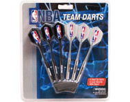 Set of 6 NBA Indiana Pacers Steel Tip Darts & Flights with NBA Logo