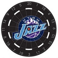 "NBA Utah Jazz 18"" Bristle Steel Tip Dart Board-Limited Quantity!!"