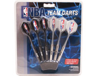 Set of 6 NBA New Jersey Nets Steel Tip Darts & Flights with NBA Logo
