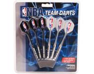Set of 6 NBA Portland Trail Blazers Steel Tip Darts & Flights with NBA Logo