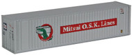 Walthers N Scale 40' Hi-Cube Intermodal Shipping Container Mitsui OSK