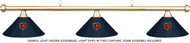 NFL Chicago Bears Blue Metal Shade & Brass Bar Billiard Pool Table Light