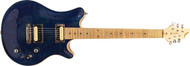 Guilford Atlas Carve Custom Built Electric Guitar Trans Blue/Maple Neck Prime Deal with Case