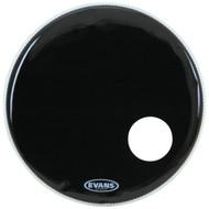 """Evans EQ3 Series BD24RB Resonant Bass Single Ply 24"""" Black Drumhead Drum Head"""