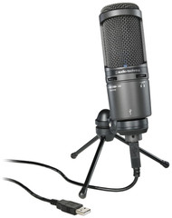 Audio-Technica AT2020USB+ Cardioid Condenser USB Studio Vocal Podcast Microphone