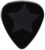 Pickboy Grip Lock Black Textured Star on Black Guitar/Bass Pick 0.75mm (10pk)