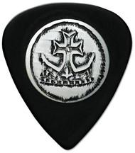 Pickboy Stud Silver Crown Cross Celtex Black Guitar/Bass Picks 1.00mm (10pk)