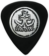 Pickboy Stud Silver Crown Cross Celtex Black Guitar/Bass Picks 0.75mm (10pk)