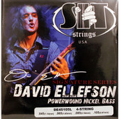 SIT DE45105L David Ellefson Power Wound Bass Guitar Strings - (45-105) - 6 PACK