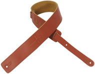 "Levy's DM1SGC-WAL 2.5"" Leather Guitar/Bass Strap Embossed Christian Cross-Walnut"