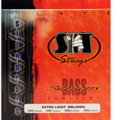 SIT NRL4095L Silencers Semiflat Bass Guitar Strings Extra Light - 3 PACK