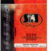 SIT NRL50105L Silencers Semiflat Bass Guitar Strings - Medium (50-105)
