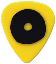 Pickboy Grip Lock Black Doughnut Grip on Yellow Guitar/Bass 0.75mm (10pk)