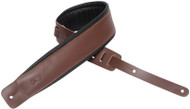 "Levy's DM1PD-BRN 3"" Classic Padded Garment Leather Guitar/Bass Strap - Brown"