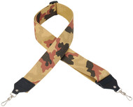"Levy's MC10-DCM 2"" Cotton Banjo Strap w/Metal Clips - Desert Camo"