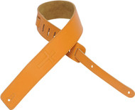 "Levy's DM1SGC-TAN 2.5""  Leather Guitar/Bass Strap Embossed Christian Cross - Tan"