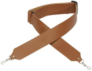 "Levy's M9-TAN 2"" Chrome-Tan Leather Banjo Strap w/Metal Clips- Tan"