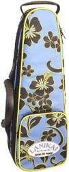 Lanikai Sidekick Soprano Size Ukulele Rigid Frame Hard Bag Floral Pattern
