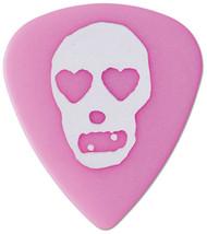 Pickboy White Heart Skull on Pink Polyacetal Guitar/Bass Picks 1.00mm (10pk)