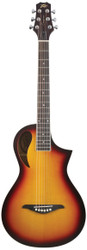 Peavey Composer Parlor Sunburst Acoustic/Electric Guitar with Gig Bag