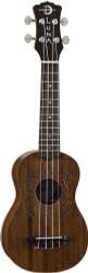 Luna UKE HONU Soprano Acoustic Ukulele w Tattoo Turtle Design