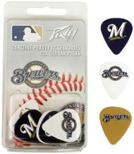 Peavey MLB Milwaukee Brewers  Guitar/Bass 12 Piece Pick Pack