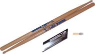 Regal Tip 005E E Series Hickory/Nylon 5A-E Wood Drum Set/Kit Drumsticks - 3 Pair