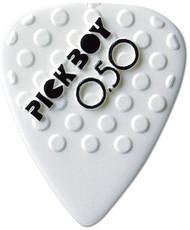 Pickboy White Ceramic/Nylon Textured Grip Guitar/Bass Picks 0.50mm (50pk)