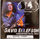 SIT DE545128L David Ellefson Power Wound 5-String Bass Guitar Strings - (45-128)
