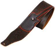 "Levy's M17GRD-DBR 2.5"" Leather Guitar/Bass Strap w/ Guitar/Bass- Dark Brown"