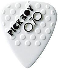 Pickboy White Ceramic/Nylon Textured Grip Guitar/Bass Picks 0.70mm (10pk)