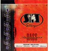 SIT NRL50105L Silencers Semiflat Bass Guitar Strings - Medium (50-105) - 6 PACK