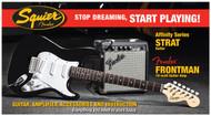 Fender Squier® Affinity Series™ Strat® & Frontman® 10G Amp - Black