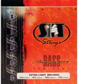 SIT NRL4095L Silencers Semiflat Bass Guitar Strings Extra Light - 6 PACK