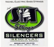 SIT NRL45105L Silencers Semiflat Bass Guitar Strings Medium Light - 6 PACK