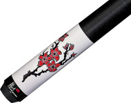 Players Flirt F-2630 Red Lotus Flowers and Dragon Pool/Billiards Cue Stick -  Free Case