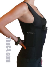womens compression holster top