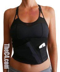 Medium- Impact Sports Bra Concealed Carry Holster- Bra Sizes 34A-36C