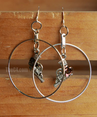 gun hoop earrings