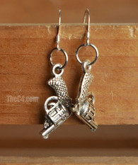 gun charm earrings