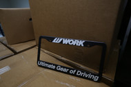 Work Wheels License Plate Frame