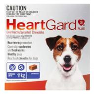 Heartgard Plus Blue Heartworm Chew for SMALL dogs 6 Chews