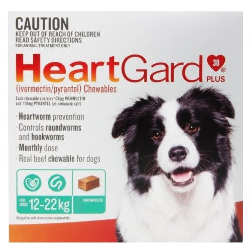 Heartgard Green For Medium Dogs 6 Chews