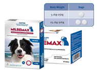 Milbemax Dog Worming Tablets For Medium-Large Dogs / Choose quantity required