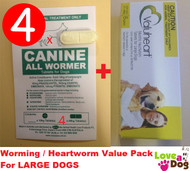 Canine All Wormer/ Valuheart Heartworm Duo Pack For Large Dogs