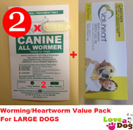 Canine All Wormer 2 pack with Valuheart Gold for large dogs|Love A Pet
