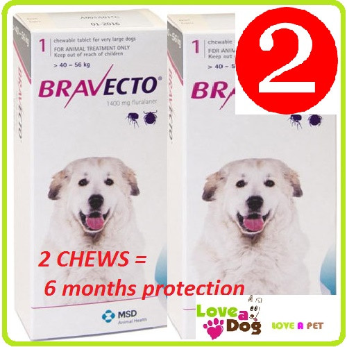 Bravecto for Extra Large Dogs 2 pack