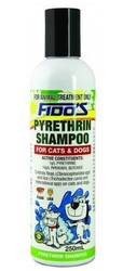 Fido's Pyrethrin Mild Shampoo - For the control of fleas and lice on dogs and cats