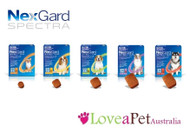 NexGard Spectra is a tasty beef-flavoured monthly chew which delivers the most complete protection from fleas, ticks, heartworm and intestinal worms available.