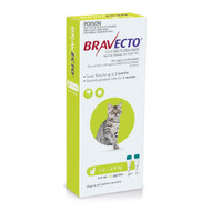 Bravecto Spot on For Cats 1.2-2.8kg (green)